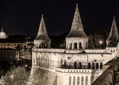 Fisherman's Bastion at night. Budapest, Hungary — Stock Photo