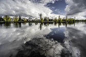 Picturesque view of Netta river. Augustow city. Poland — Stock Photo