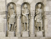 Guardian statues from Buda walls — Stock Photo