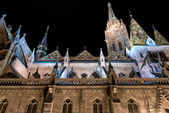 Matthias Church at night. Budapest, Hungary — Stockfoto