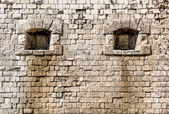 Arrowslit. Citadel. Budapest, Hungary — Stock Photo