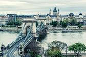Chain Bridge. Budapest city. Hungary — Stock Photo