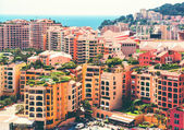 View of Fontvieille architecture. Principality of Monaco — Stock Photo