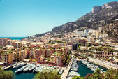View of Fontvieille. Principality of Monaco — Stock Photo