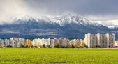 Neighborhood near High Tatras. Poprad, Slovakia — Stock Photo