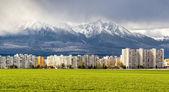 Neighborhood near High Tatras. Poprad, Slovakia — Stock Photo
