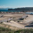 Breakwater in Tarifa beach. Andalusia, Spain — Stock Photo #47556815