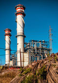 Oil Refinery in Algeciras port city. South Spain — Stock Photo