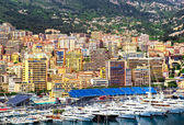 Principality of Monaco harbor — Stock Photo