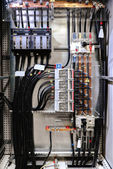 Electrical panel with fuses and contactors — Stock Photo