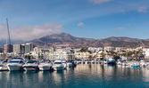 Day view of Puerto Marina. Benalmadena, Spain — Stock Photo