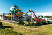 Day view of Livu Aquapark — Stock Photo