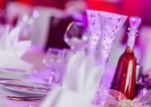 Wedding  table close-up — Stock Photo