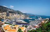Cityscape and harbor of Monte Carlo. Principality of Monaco — Stock Photo
