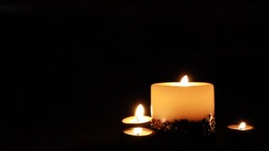 Candles in the wind — Stock Video #13848679