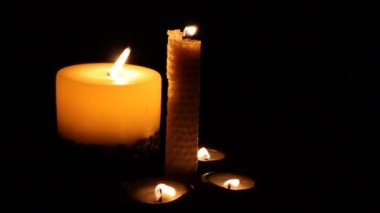 Candles in the wind — Stock Video #13848705