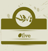 Stylized olive label, — Stock Vector