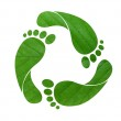 Footprint recycle sign — Stock Photo #3400175
