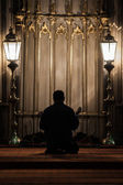 Praying in Eyup Mosque — Stock Photo