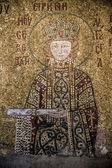 Restaurado mosaicos dentro hagia sofia — Fotografia Stock