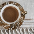 Delicious Traditional Turkish Coffee Served — Zdjęcie stockowe