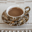 Delicious Traditional Turkish Coffee Served — Foto Stock #35106455