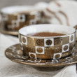 Delicious Traditional Turkish Coffee Served — Stockfoto