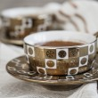 Delicious Traditional Turkish Coffee Served — Stock Photo