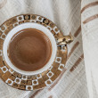 Delicious Traditional Turkish Coffee Served — Foto de stock #35106631