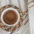 Delicious Traditional Turkish Coffee Served — Zdjęcie stockowe #35106631