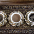 Delicious Traditional Turkish Coffee Served — Stockfoto #35106843