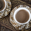 Delicious Traditional Turkish Coffee Served — Foto Stock