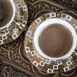 Delicious Traditional Turkish Coffee Served — Stockfoto #35107225
