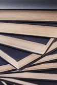 Pile of Dark Blue Books — Stock Photo