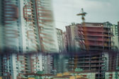 Distorted Reflections of Buildings — Stock Photo