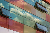 Clouds Reflections on Skyscraper Facade — Stock Photo