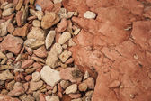 Pebbles and Rock Layers — Stock Photo