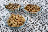 Assorted Nuts in Bowls — Stock Photo