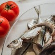 Stock Photo: Cleaned Mackerel in Glass Plate