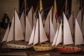Model Ships at a Gift Shop — Stock Photo