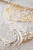 Preparation of Dough for Baklava — Stock Photo