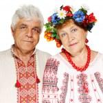 Elderly Ukrainian couple — Stock Photo #11461671