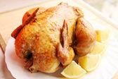 Chicken with lemon — Stock Photo