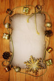 Old Christmas background — Stock Photo