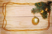 Tree branch with ball — Stock Photo