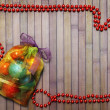 Bag with Christmas balls — Stock Photo