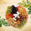 Christmas dried fruit — Stock Photo