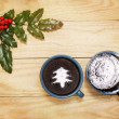 Christmas pudding — Stock Photo