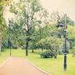 Stock Photo: Lamp in park,tinted
