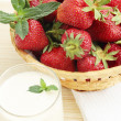 Stock Photo: Strawberries in basked